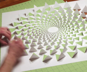 Cut Paper Optical Illusion