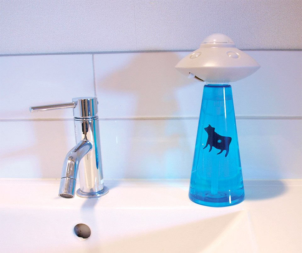 Alien Abduction Soap Dispenser