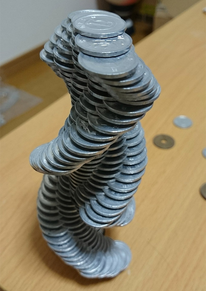 Coin Stack Sculptures