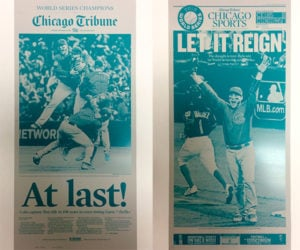 Deal: Cubs World Series Press Plates
