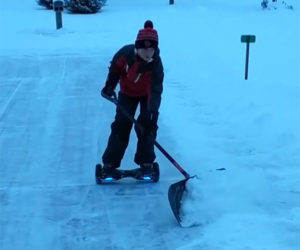 Hoverboard Snowplow
