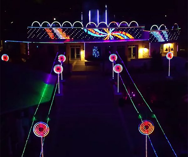Insane Christmas Light Show