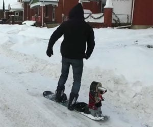 Jet-powered Snowboard