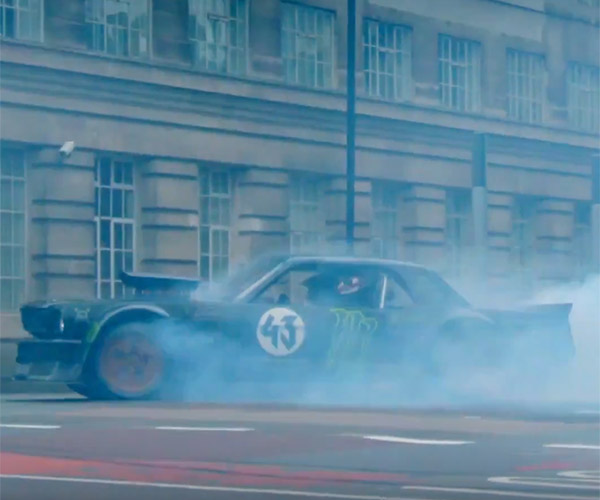 Ken Block Drifts London