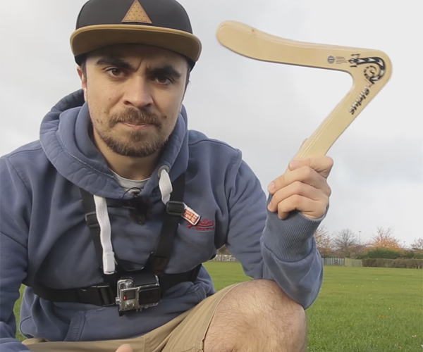 Learning to Throw a Boomerang