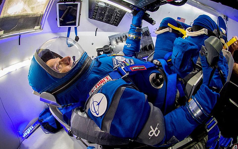 Boeing Blue Space Suit