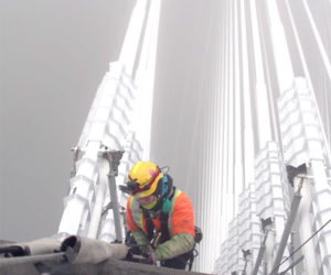 Clearing Snow from Bridge Cables