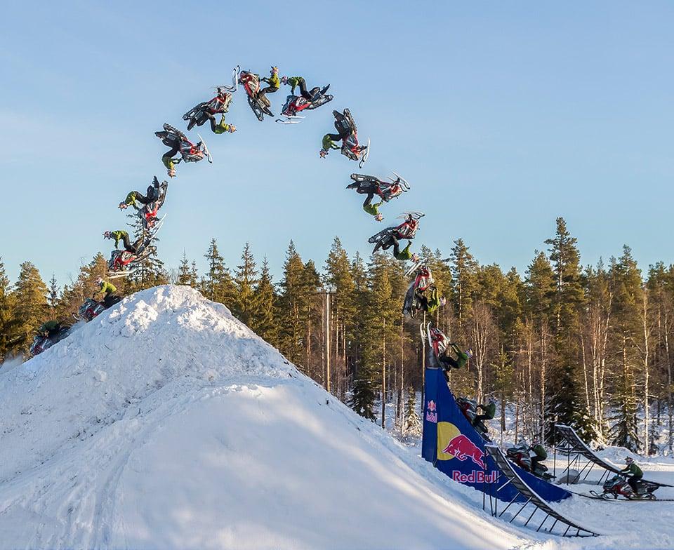 Snowmobile Double Backflip