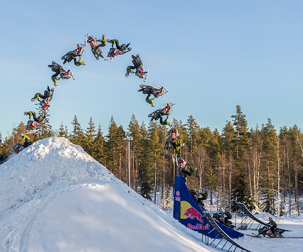 Snowmobile Double Backflip