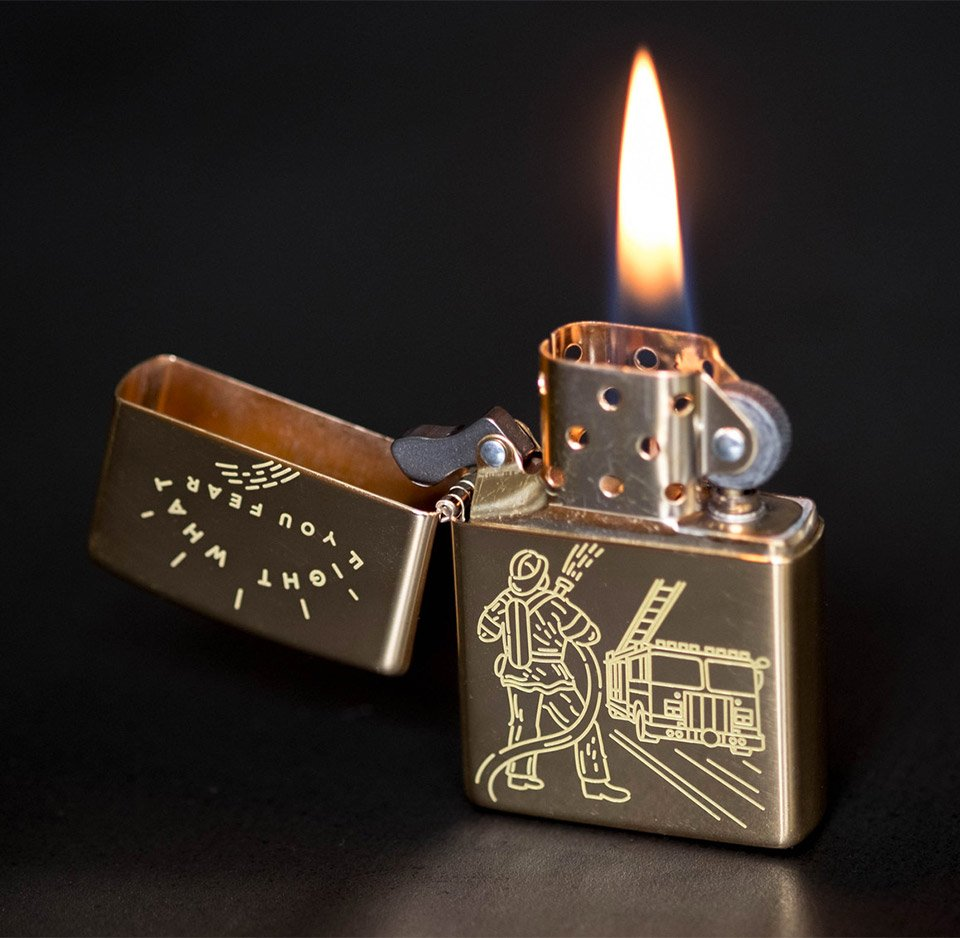 Firefighter Zippo Lighter Pop Out