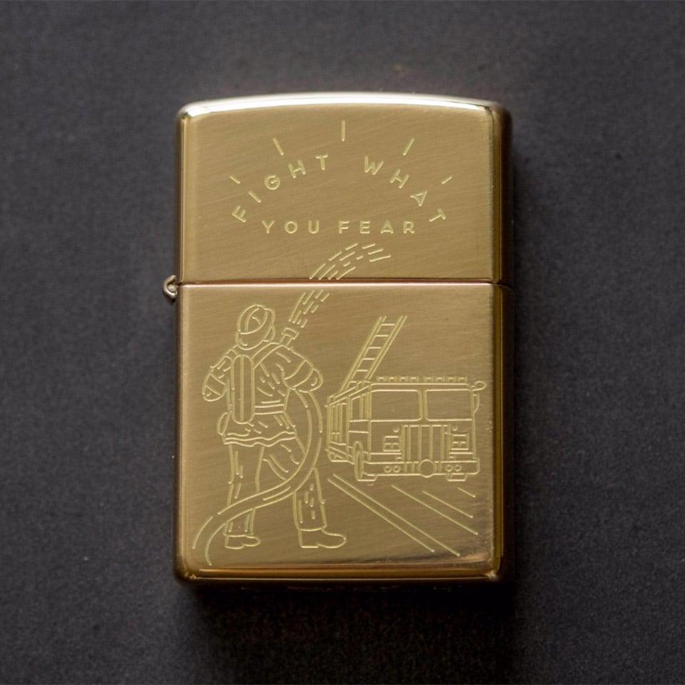 Firefighter Zippo Lighter