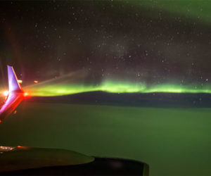 In Flight Northern Lights