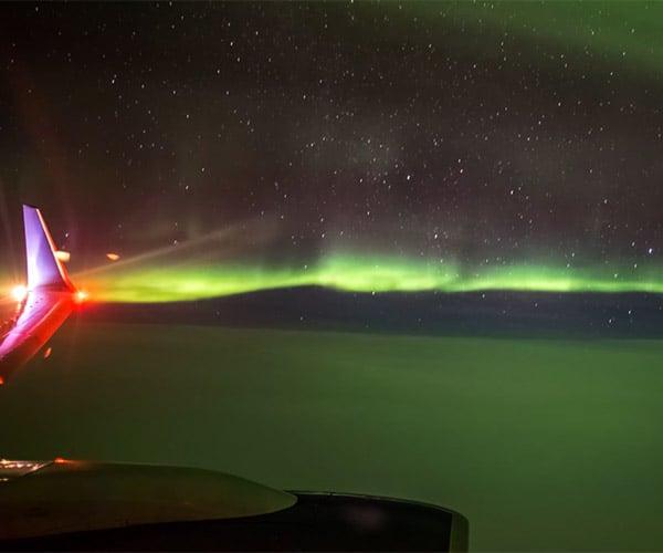 In Flight Northern Lights