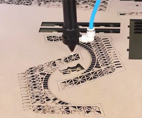 Laser Cutting the Eiffel Tower