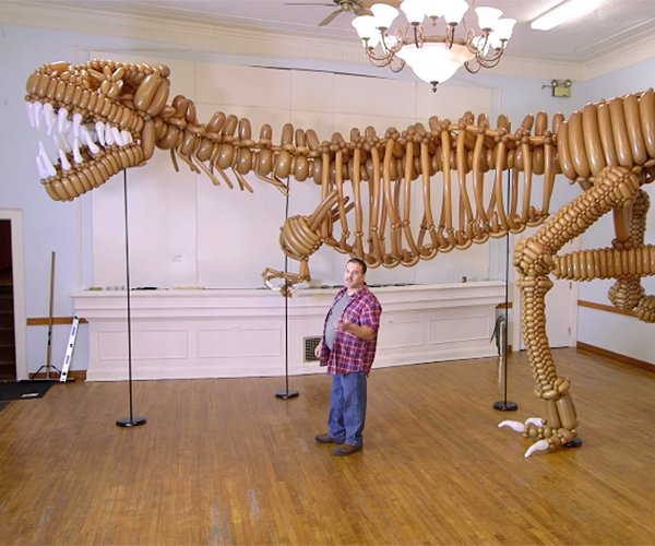 Life-sized Balloon T-rex
