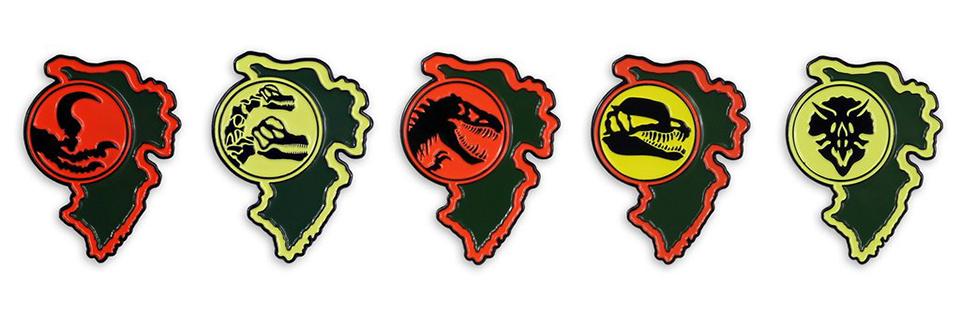Mondo Jurassic Park Enamel Pins
