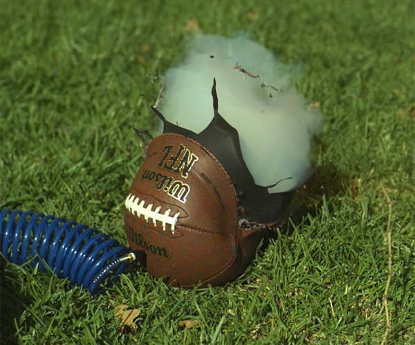 Over-inflating Footballs in Slow Mo