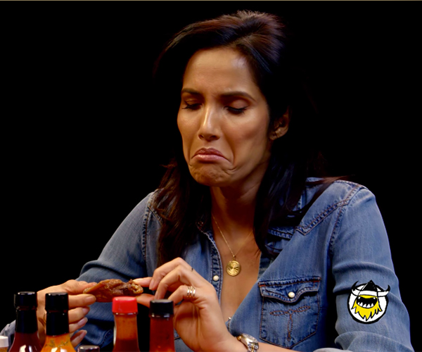 Padma Lakshmi vs. Hot Wings