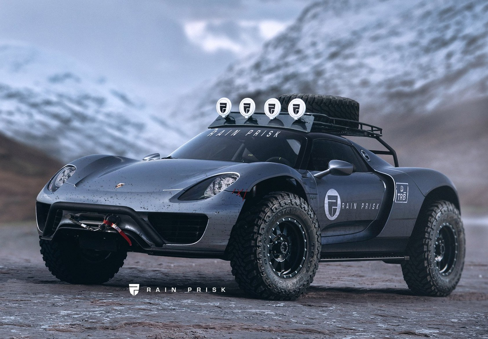 Porsche 918 Spyder Off Road The Awesomer