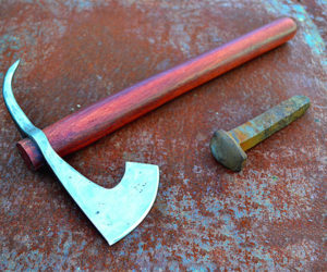 Railroad Spike Tomahawk