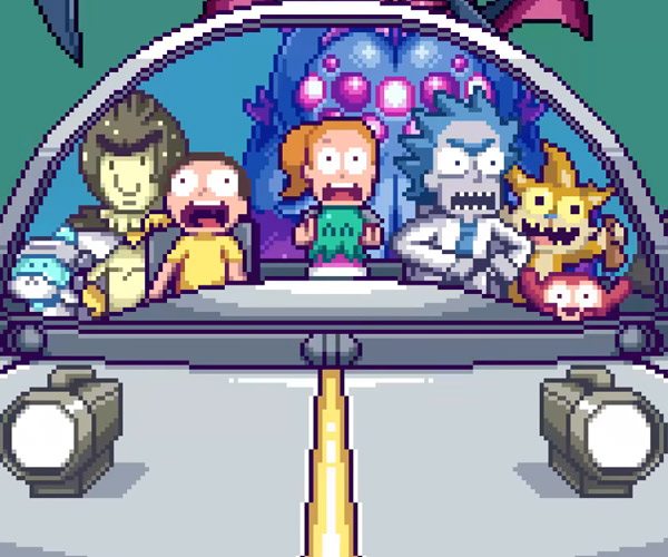 Rick and Morty: 8-Bit Intro