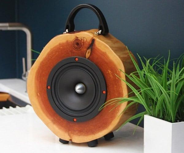 Rockitlogs Wooden Speakers