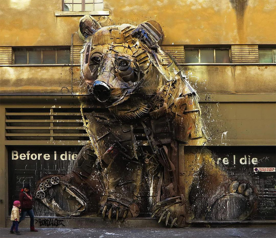 Trash Animal Street Art