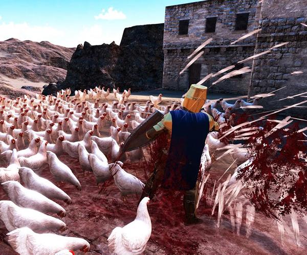 20,000 Chickens vs. Knight