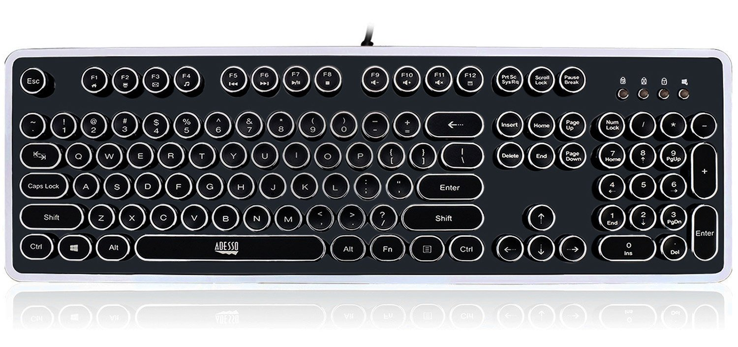 Adesso Retro Mechanical Keyboard