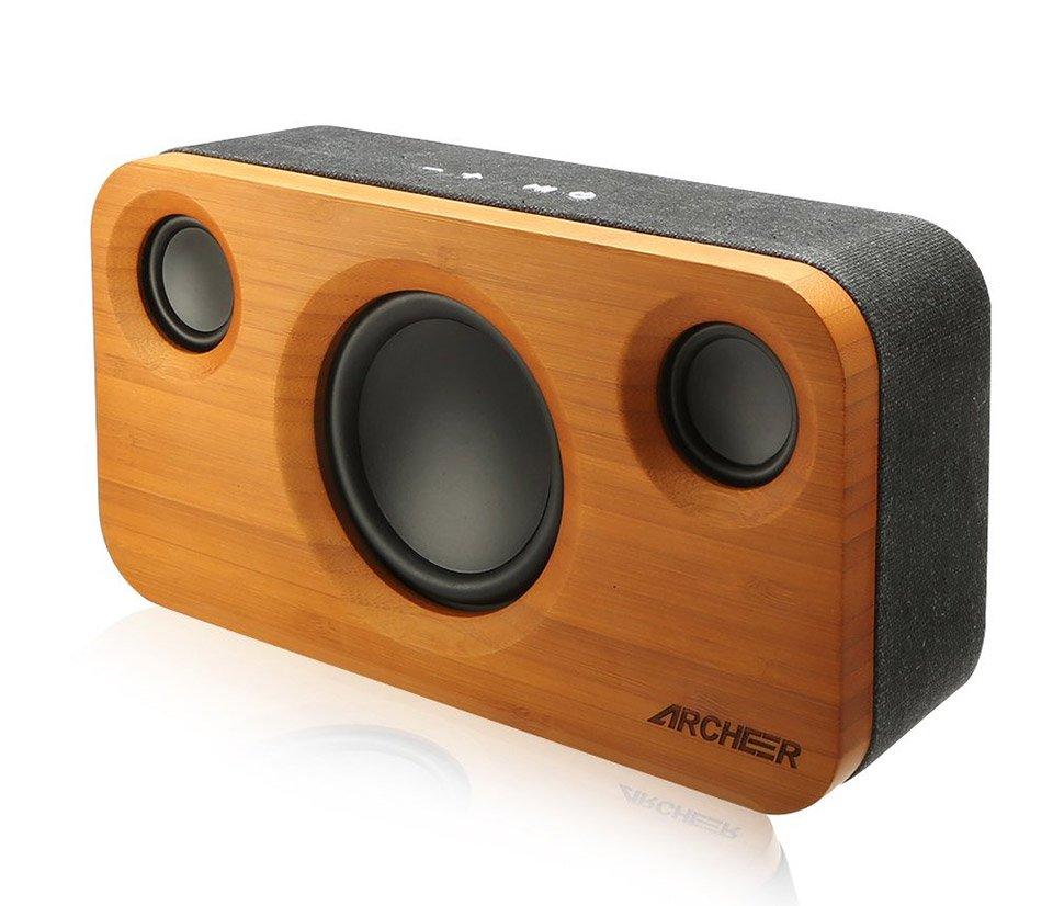 bamboo bluetooth speaker the awesomer. Black Bedroom Furniture Sets. Home Design Ideas