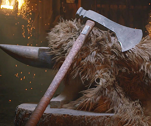 Forging the Viking Dane Axe