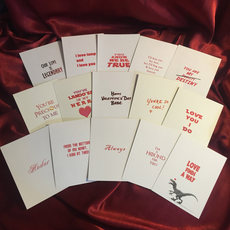 Pop Culture Valentines 2017