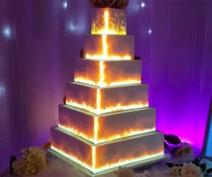 Projection-Mapped Cake