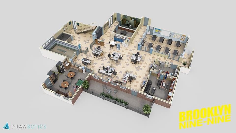 TV Show 3D Floor Plans