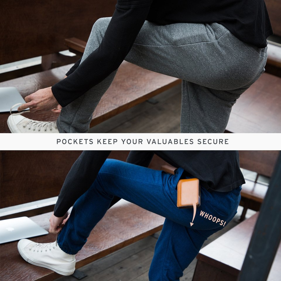 Betabrand Sitting-Pocket Sweatpants