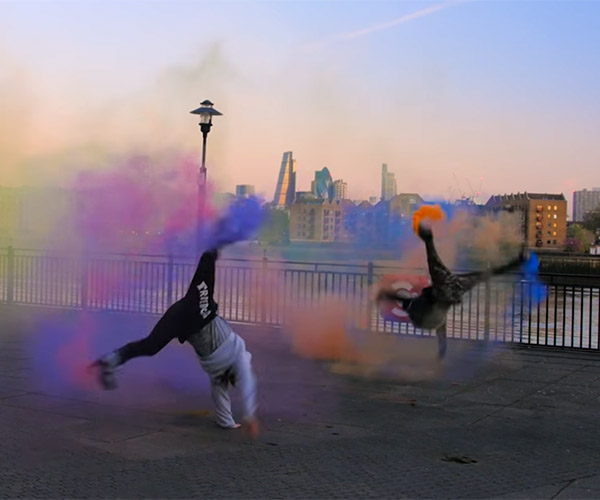 Breakdancing with Smoke Grenades