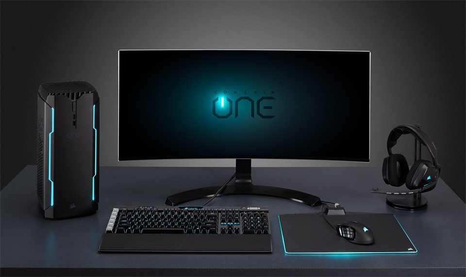 corsair one gaming pc the awesomer. Black Bedroom Furniture Sets. Home Design Ideas