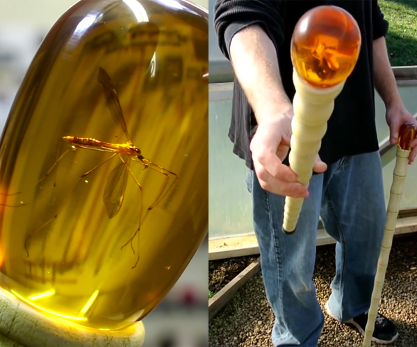 DIY Jurassic Park Amber Cane Replicas