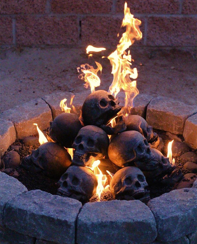 "Skull Fireplace ""Logs"""