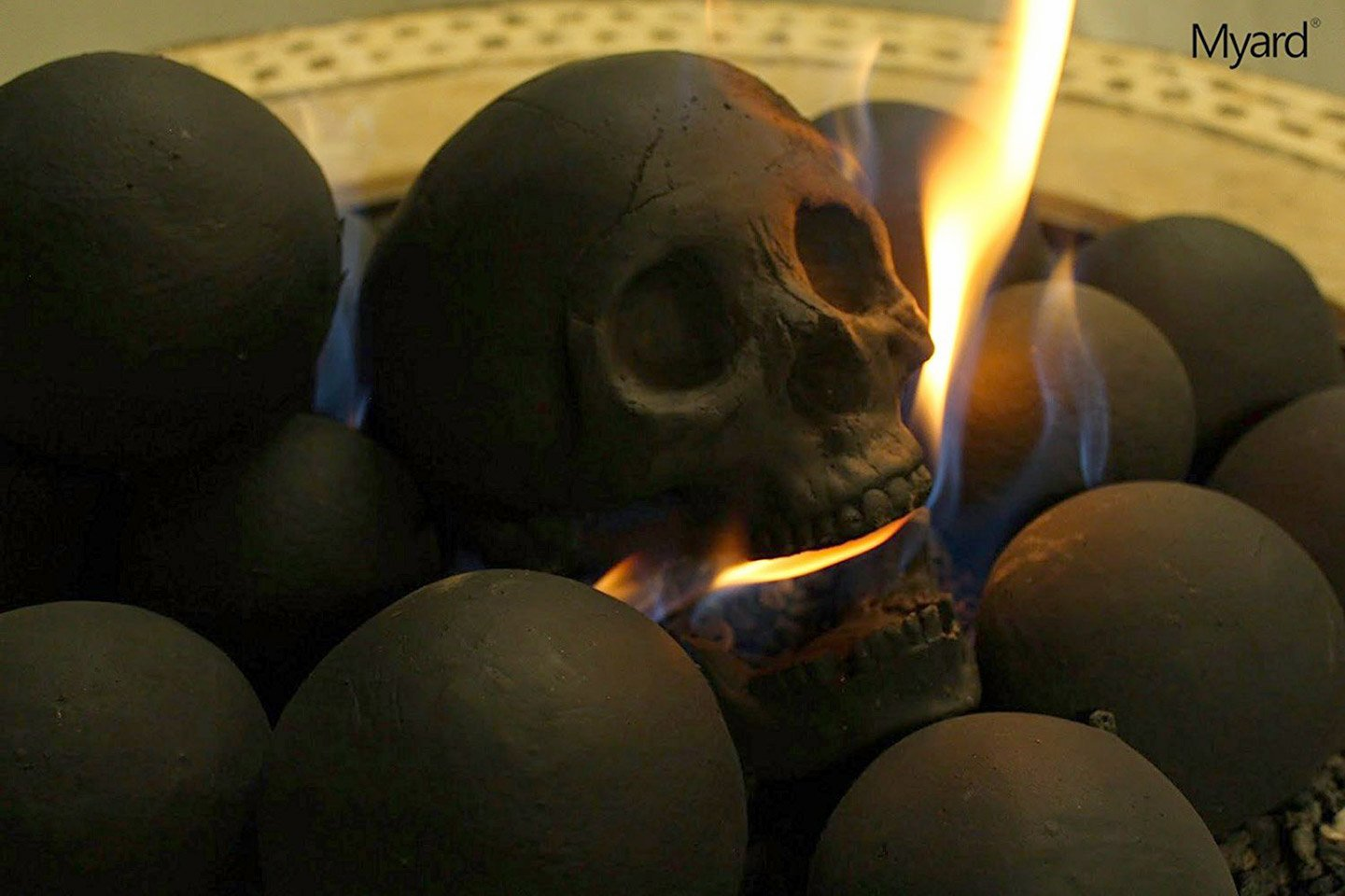 """Skull Fireplace """"Logs"""" - The Awesomer"""