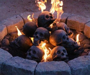 "Skull Fireplace ""Logs"""
