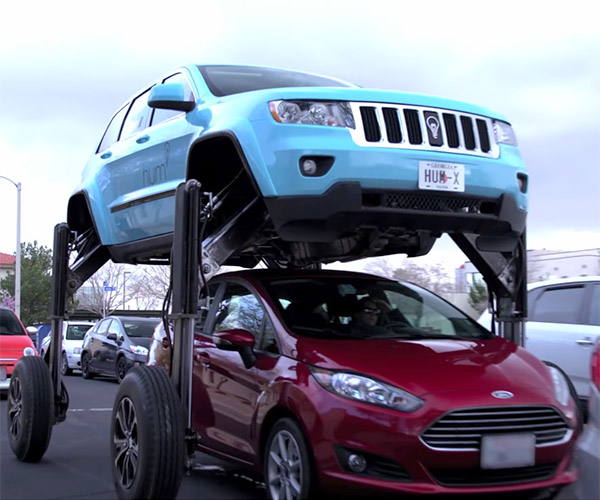 Traffic-skipping SUV