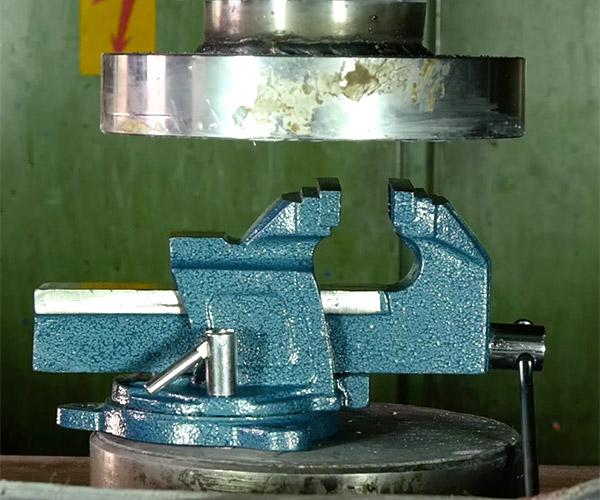 Hydraulic Press vs. Vice