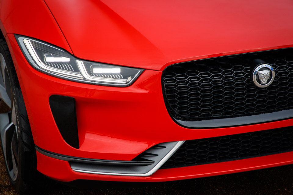 Jaguar I-PACE in Red