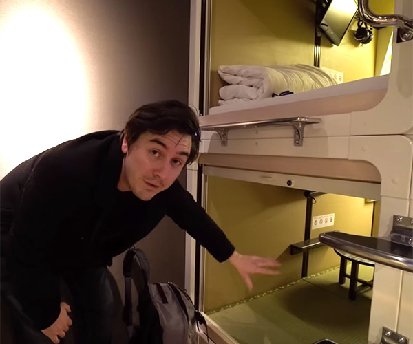 Staying in a Capsule Hotel