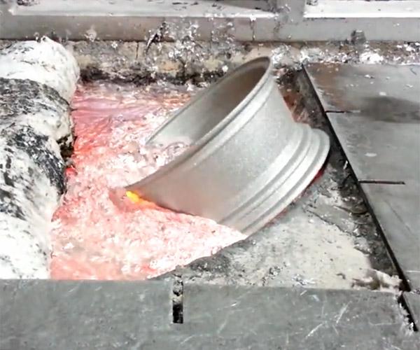 Melting Aluminum Wheels