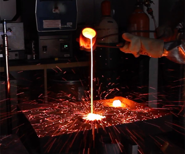 Molten Copper in Slow Mo