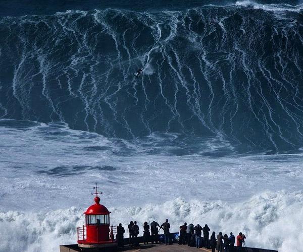 Surfing Nazaré's Mega Swells