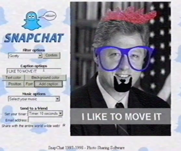 Snapchat in the '90s