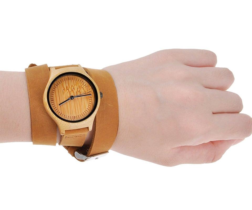 ZLYC Bamboo Watch